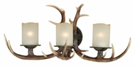 Vaxcel W0046 Yoho Country Black Walnut Finish 10.5  Wide 3-Light Vanity Lighting Fixture