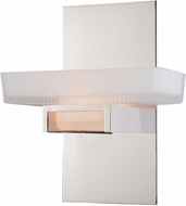 Vaxcel W0079 Gatsby Contemporary Polished Nickel Halogen Wall Sconce Lighting