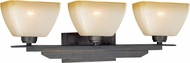 Vaxcel W0114 Descartes II Architectural Bronze 3-Light Lighting For Bathroom