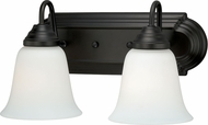 Vaxcel W0133 708 Series Oil Rubbed Bronze 2-Light Bathroom Vanity Lighting