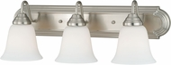 Vaxcel W0134 708 Series Satin Nickel 3-Light Bathroom Vanity Light