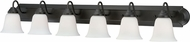 Vaxcel W0137 708 Series Oil Rubbed Bronze 6-Light Vanity Light Fixture