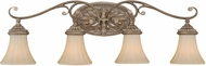 Vaxcel W0157 Avenant Traditional French Bronze 4-Light Bath Lighting