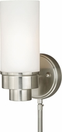 Vaxcel W0179 Tube Satin Nickel Wall Sconce Light