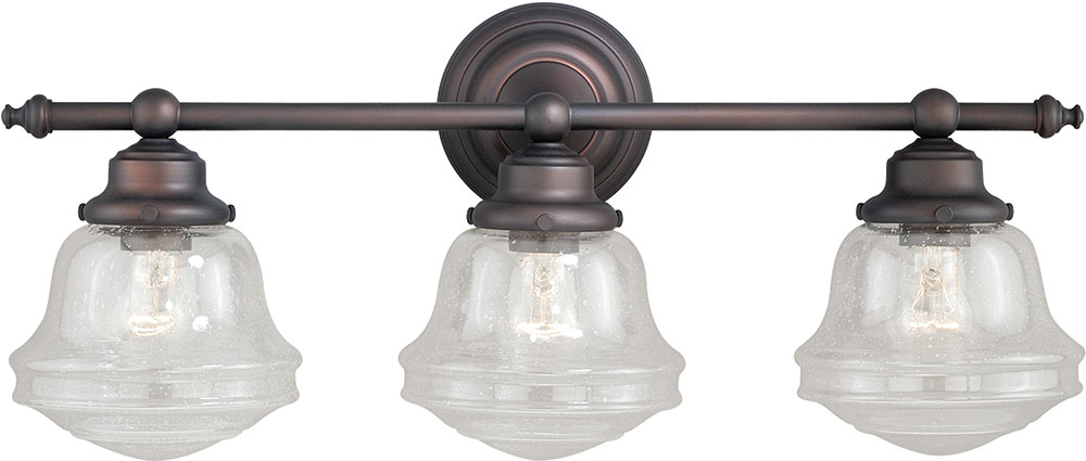Vaxcel W0190 Huntley Oil Rubbed Bronze 3-Light Bath