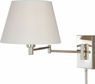Vaxcel W0200 Chapeau Polished Nickel Wall Swing Arm Lamp