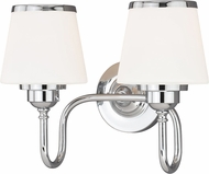 Vaxcel W0204 Kelsy Chrome 2-Light Bathroom Lighting