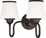 Vaxcel W0205 Kelsy Noble Bronze 2-Light Lighting For Bathroom