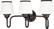 Vaxcel W0207 Kelsy Noble Bronze 3-Light Bathroom Light