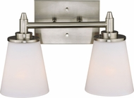 Vaxcel W0213 Eastland Satin Nickel 2-Light Bath Light Fixture