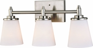 Vaxcel W0214 Eastland Satin Nickel 3-Light Bath Lighting Fixture