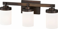 Vaxcel W0217 Sorin Architectural Bronze 3-Light Bathroom Vanity Lighting