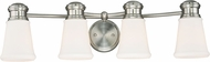 Vaxcel W0221 Malie Satin Nickel 4-Light Bath Sconce