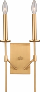 Vaxcel W0251 Kedzie Contemporary Natural Brass Wall Mounted Lamp