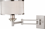Vaxcel W0259 Polk Modern Satin Nickel Swing Arm Wall Lighting