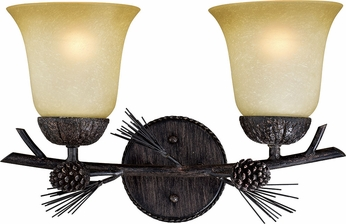 Vaxcel W0268 Sierra Country Black Walnut 2-Light Vanity Light