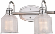 Vaxcel W0280 Dayton Modern Satin Nickel 2-Light Bathroom Lighting