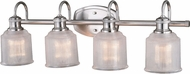 Vaxcel W0282 Dayton Modern Satin Nickel 4-Light Bath Lighting