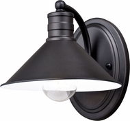 Vaxcel W0283 Akron Modern Oil Rubbed Bronze and Inner Matte White Wall Light Sconce