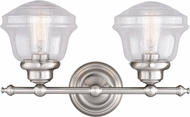Vaxcel W0306 Huntley Modern Satin Nickel 2-Light Vanity Light