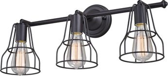 Vaxcel W0313 Clybourn Retro Oil Rubbed Bronze 3-Light Bathroom Vanity Lighting