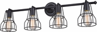 Vaxcel W0314 Clybourn Vintage Oil Rubbed Bronze 4-Light Bathroom Vanity Light
