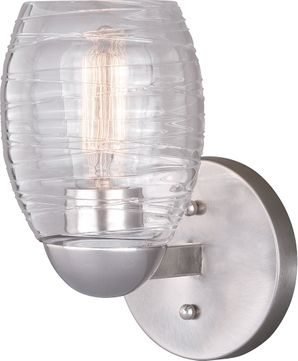 Vaxcel W0315 Isley Contemporary Satin Nickel Wall Sconce Lighting