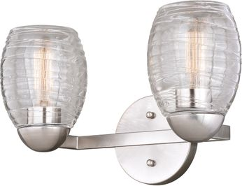 Vaxcel W0316 Isley Modern Satin Nickel 2-Light Bathroom Sconce
