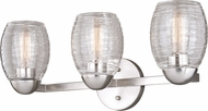 Vaxcel W0317 Isley Contemporary Satin Nickel 3-Light Bath Sconce