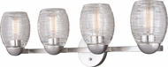 Vaxcel W0318 Isley Modern Satin Nickel 4-Light Vanity Light Fixture
