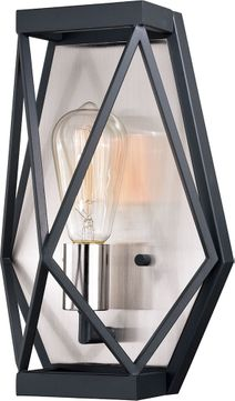 Vaxcel W0319 Hailey Contemporary Black Graphite & Satin Nickel Wall Mounted Lamp