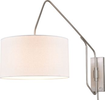 Vaxcel W0326 Marcin Contemporary Satin Nickel Wall Swing Arm Lamp