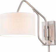 Vaxcel W0327 Marcin Modern Satin Nickel Swing Arm Wall Lamp