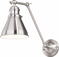 Vaxcel W0333 Alexander Satin Nickel with Inner White Wall Swing Arm Lamp