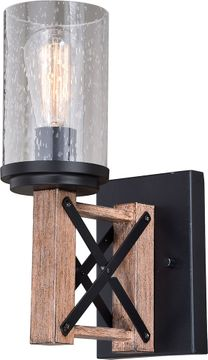 Vaxcel W0336 Colton Country Rustic Oak with Noble Bronze Wall Sconce Lighting