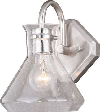 Vaxcel W0338 Curie Contemporary Satin Nickel Lighting Wall Sconce