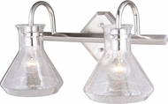 Vaxcel W0339 Curie Modern Satin Nickel 2-Light Bathroom Lighting