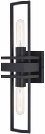 Vaxcel W0347 Marquis Modern Matte Black Wall Light Sconce
