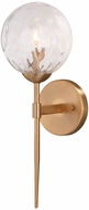 Vaxcel W0353 Olson Modern Natural Brass Wall Light Sconce