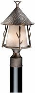 Vaxcel WD-OPU090AA Woodland Country Autumn Patina Finish 9 Wide Outdoor Lighting Post Light