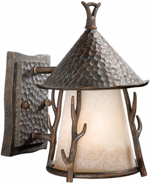 Vaxcel WD-OWD070AA Woodland Rustic Autumn Patina Finish 10.25 Tall Exterior Lighting Sconce