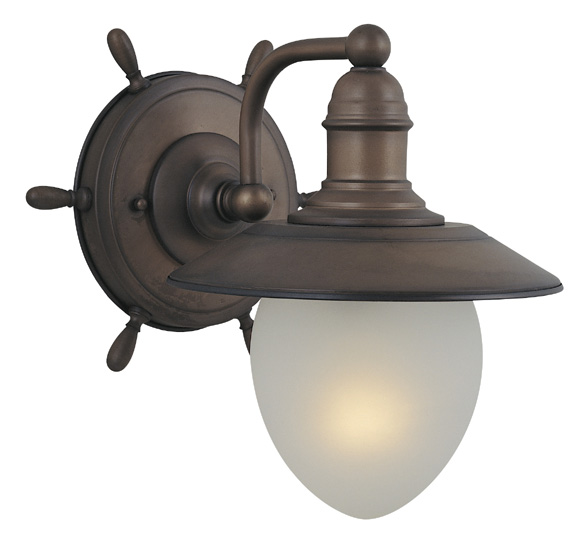 Vaxcel Wl25501rc Orleans Nautical Antique Red Copper Finish 10 5 Tall Wall Sconce Light