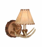 Vaxcel WL33041NS Lodge Country Noachian Stone Finish 9.75 Wide Wall Sconce