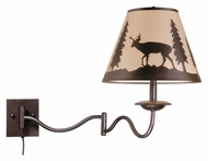 Vaxcel WL55412BBZ Bryce Rustic Burnished Bronze Finish 18  Tall Wall Swing Arm Lamp