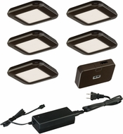 Vaxcel X0033 Contemporary Bronze LED Under Counter Lighting - 5 Light Kit