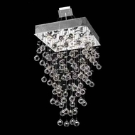 Worldwide 83236 Worldwide Square 16  5-light Crystal Style Pendant