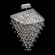 Worldwide 83239 Worldwide Square Small 28  10-light Crystal Pendant