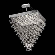Worldwide 83241 Worldwide Square Small 32  16-light Crystal Pendant