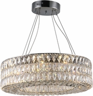 Worldwide CP195KC24 Galaxy Polished Chrome LED 24  Drum Pendant Lighting