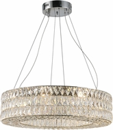 Worldwide CP195KC28 Galaxy Polished Chrome LED 28  Drum Pendant Light